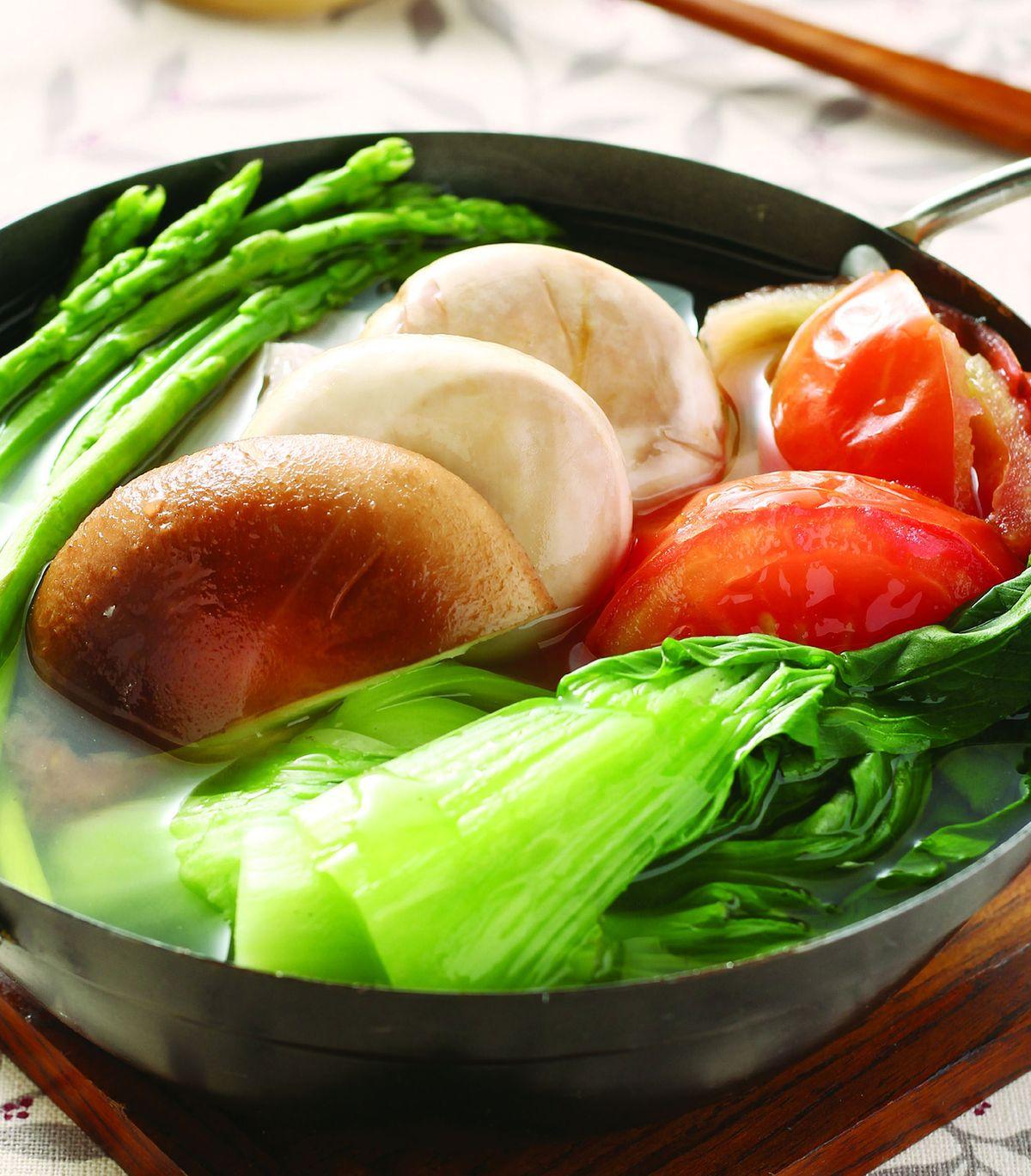 食譜:低脂翡翠野菜鍋