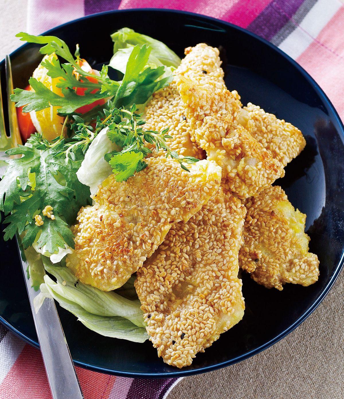 食譜:香煎芝麻魚片