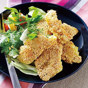 香煎芝麻魚片