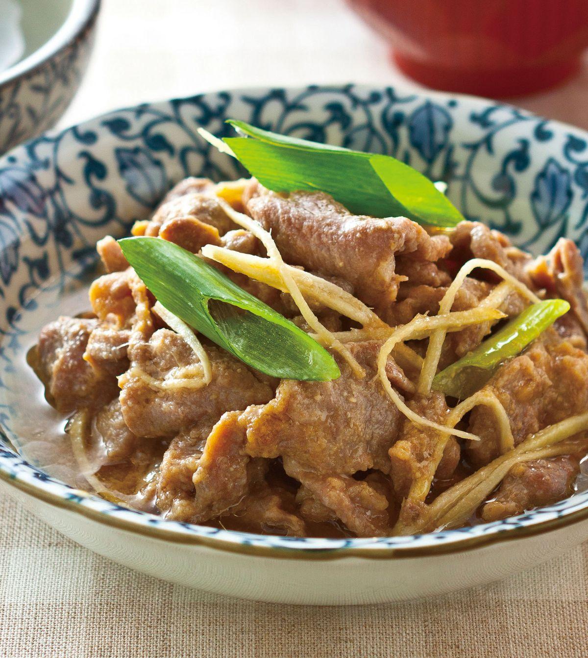 食譜:味噌肉片