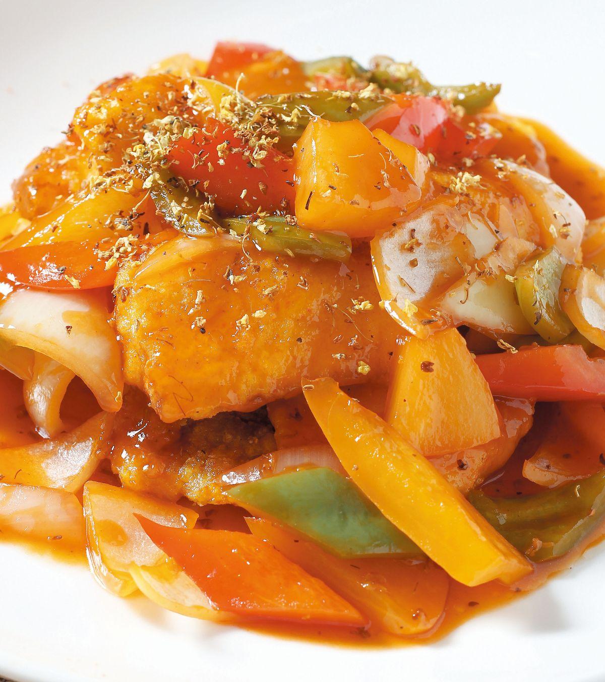 食譜:桂花咕咾潮鯛