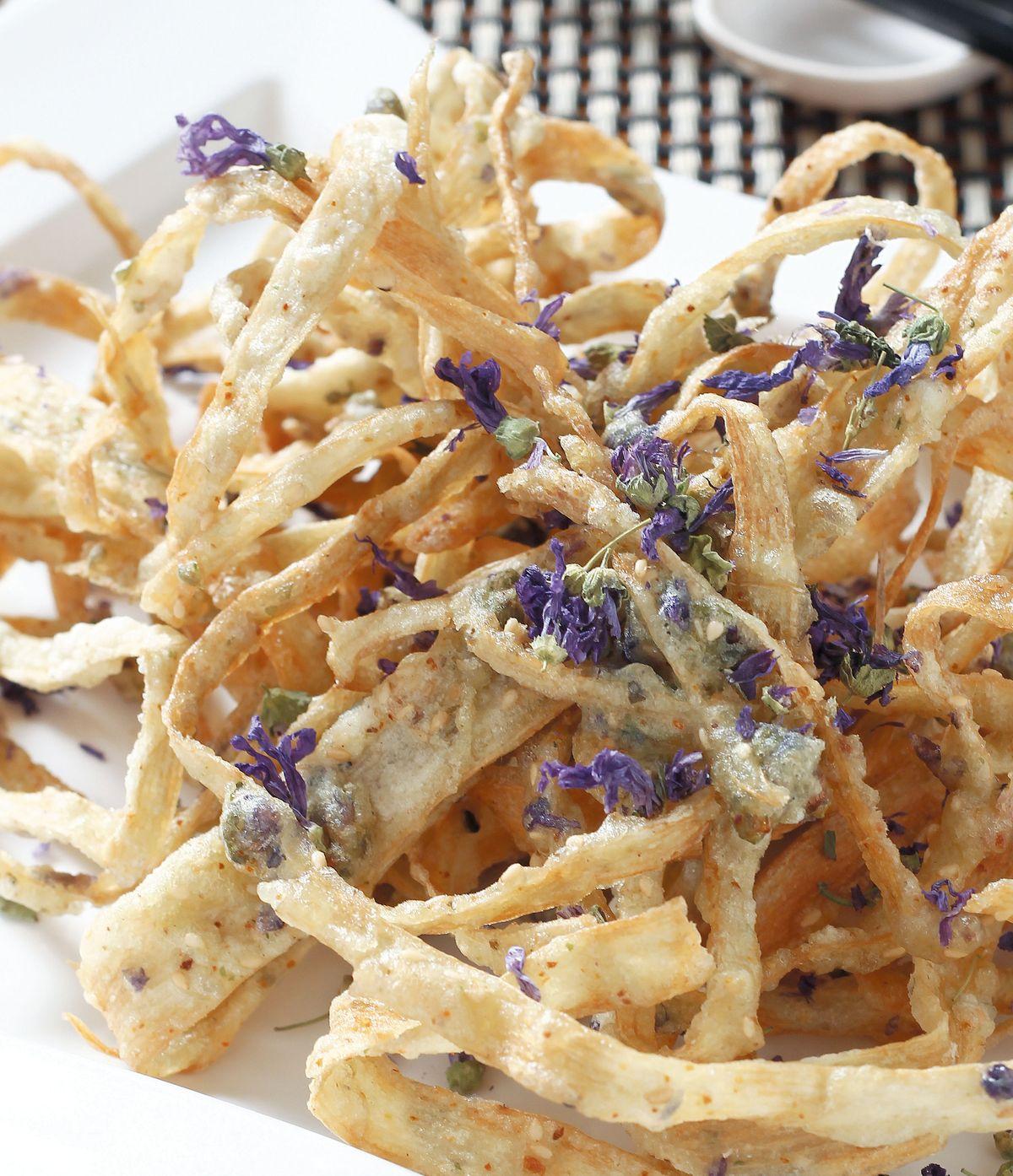 食譜:紫羅蘭牛蒡酥