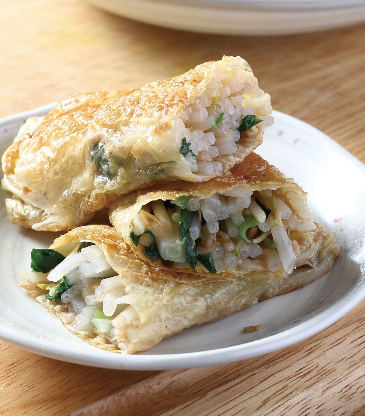 食譜:腐皮豆芽捲