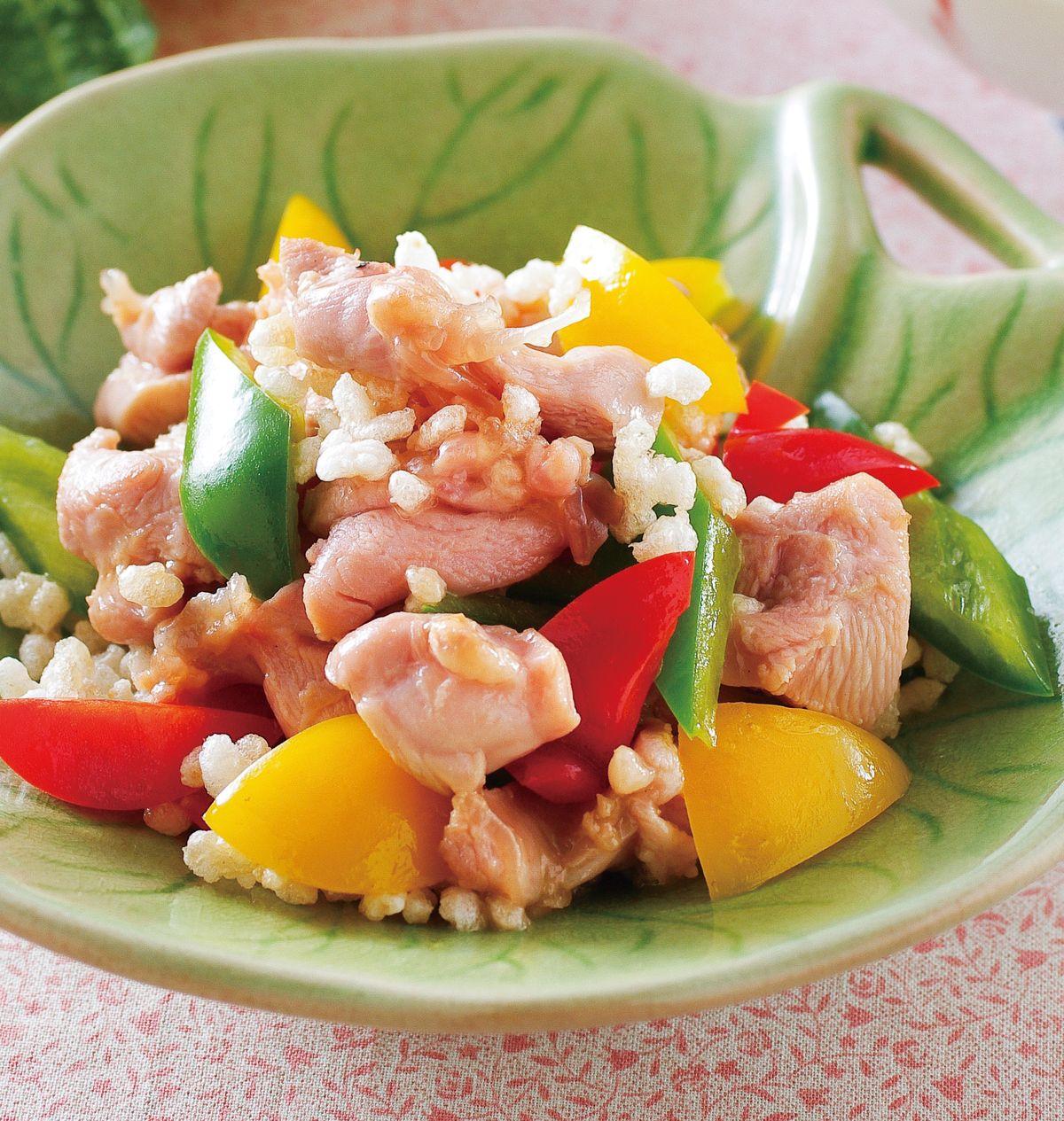 食譜:彩椒碎米雞