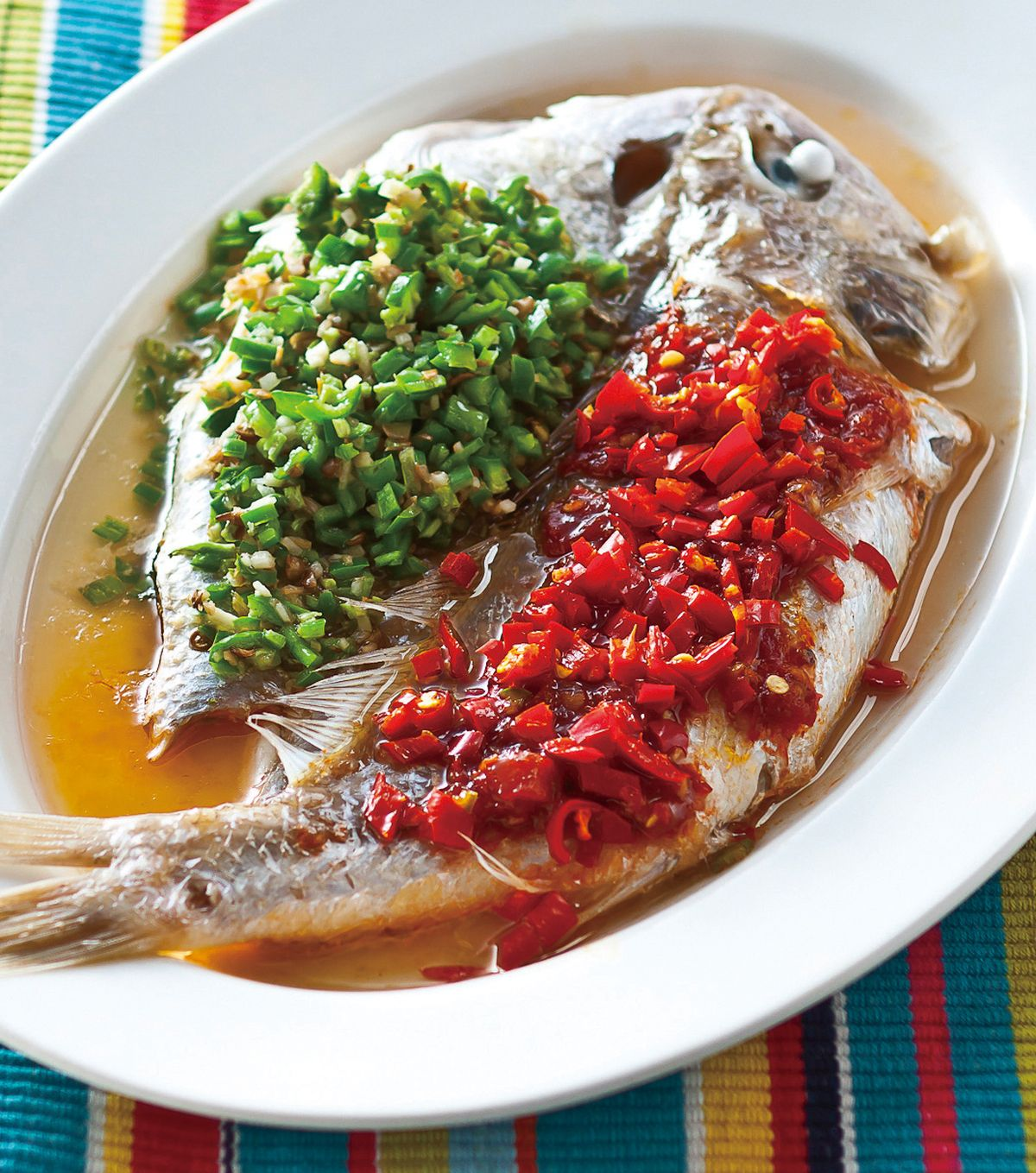 食譜:雙椒蒸鮮魚