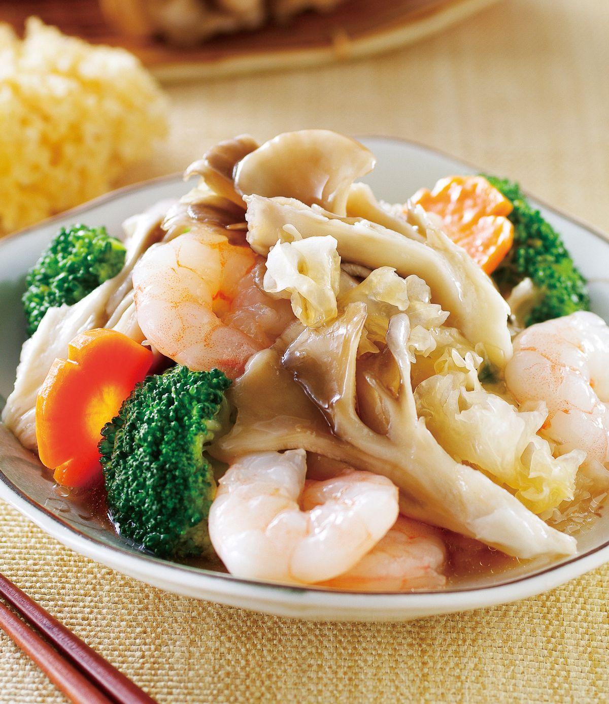 食譜:銀花燴舞菇