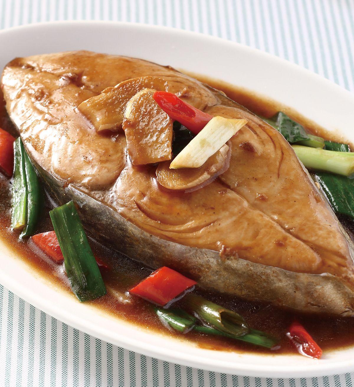 食譜:蔥燒土魠魚