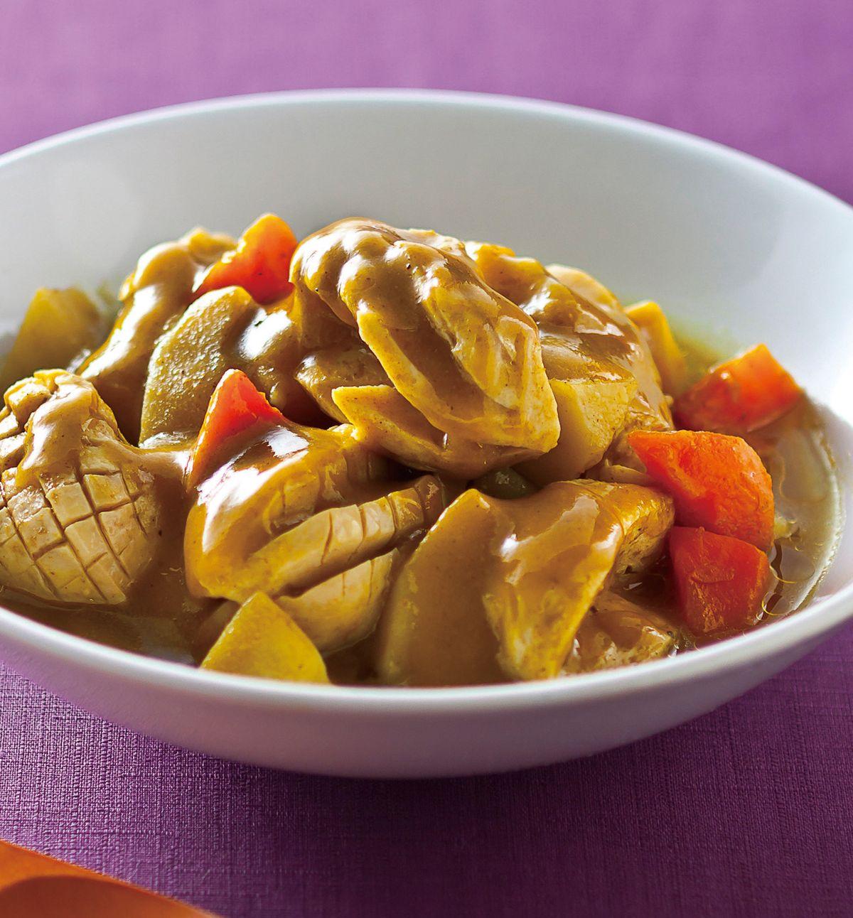 食譜:黃咖哩馬鈴薯燒素腰花