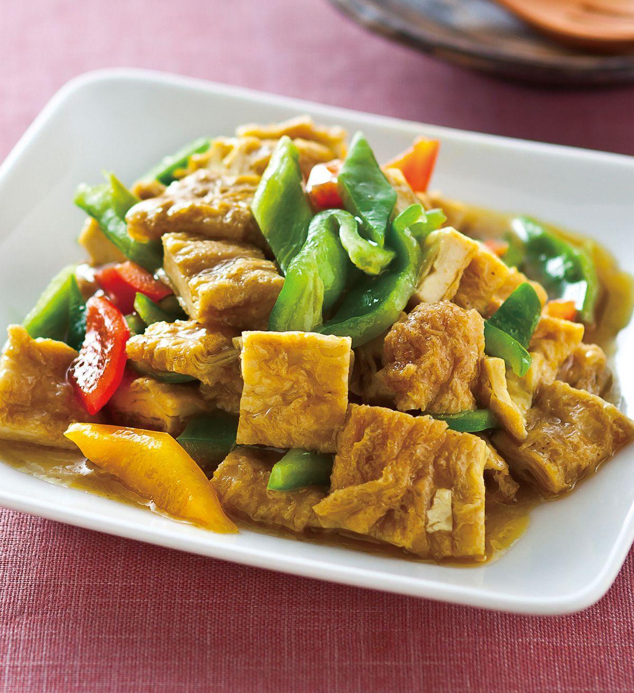 食譜:綠咖哩炒豆包丁