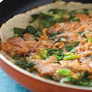 蒜苗鮪魚煎餅