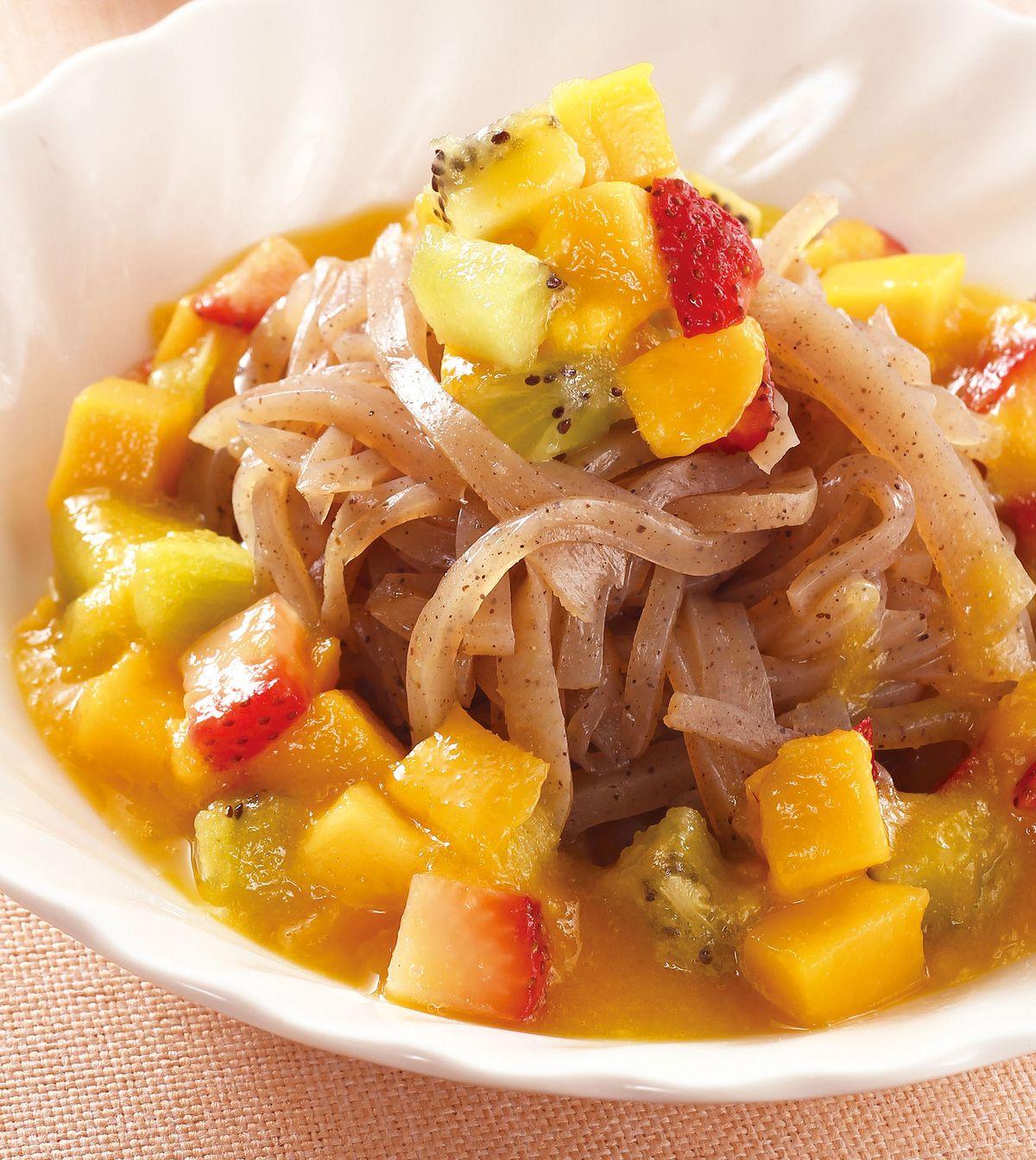 食譜:夏日水果蒟蒻涼麵