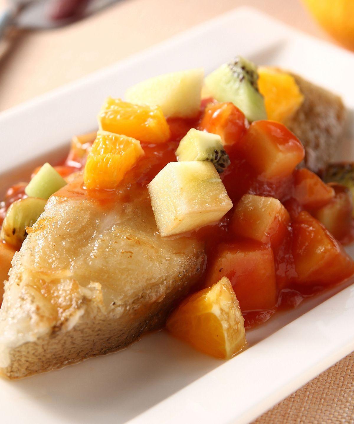 食譜:果粒鱈魚排