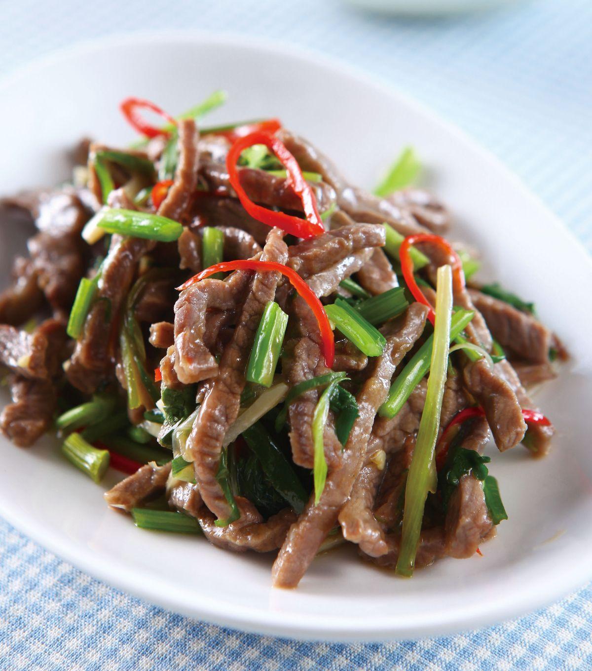 食譜:香根牛肉絲(1)