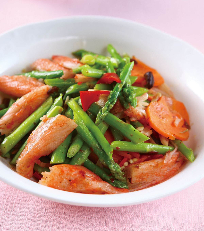 食譜:XO醬炒蟹肉蘆筍