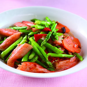 XO醬炒蟹肉蘆筍