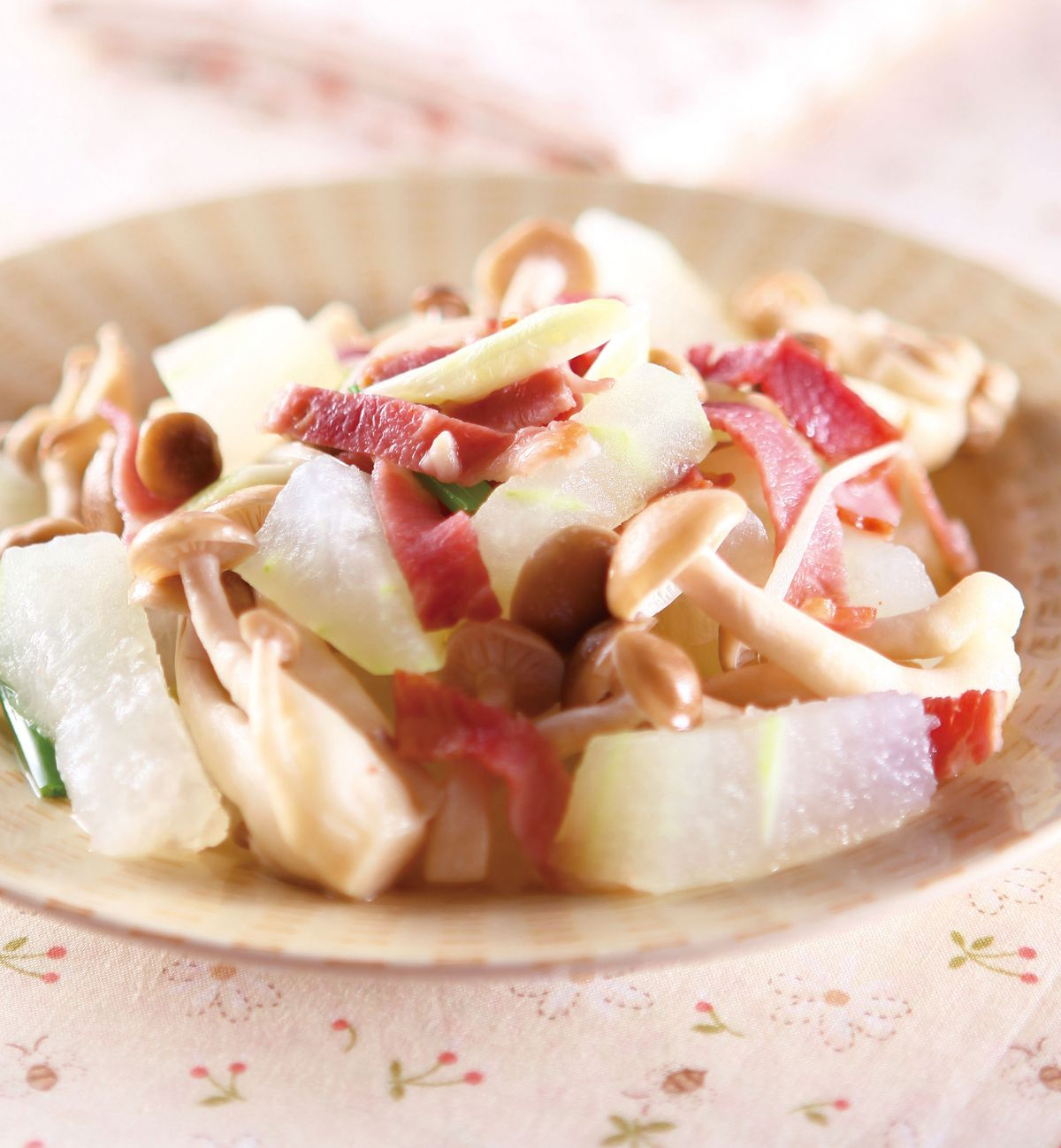 食譜:培根冬瓜蒸鮮菇