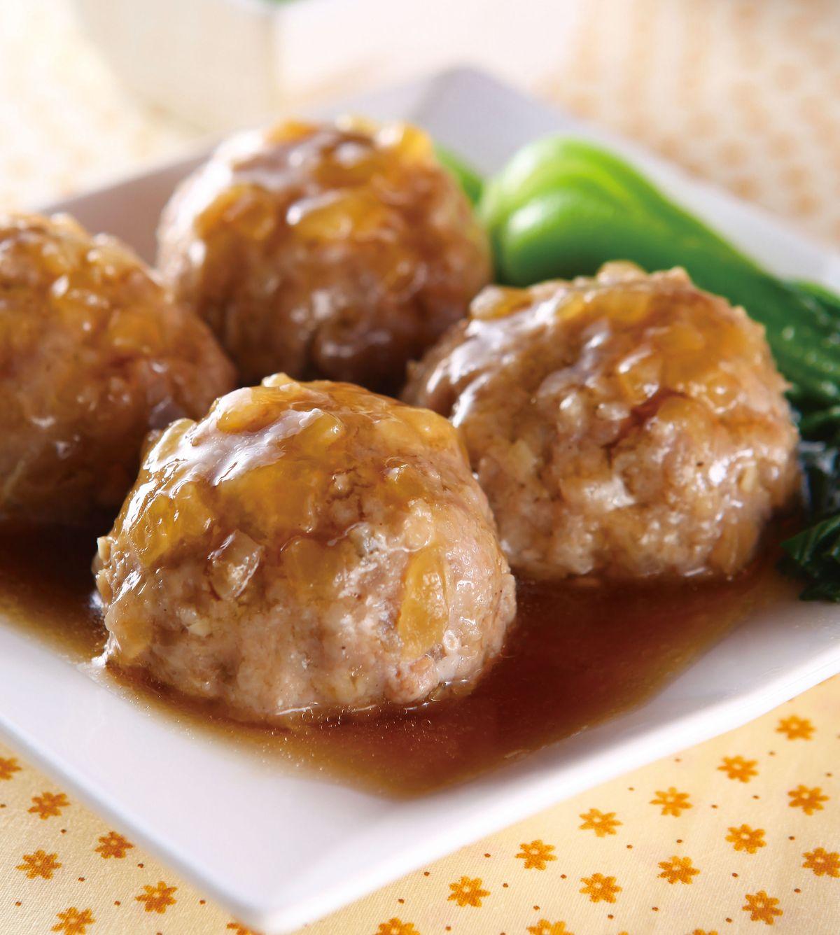 食譜:鹹冬瓜獅子頭