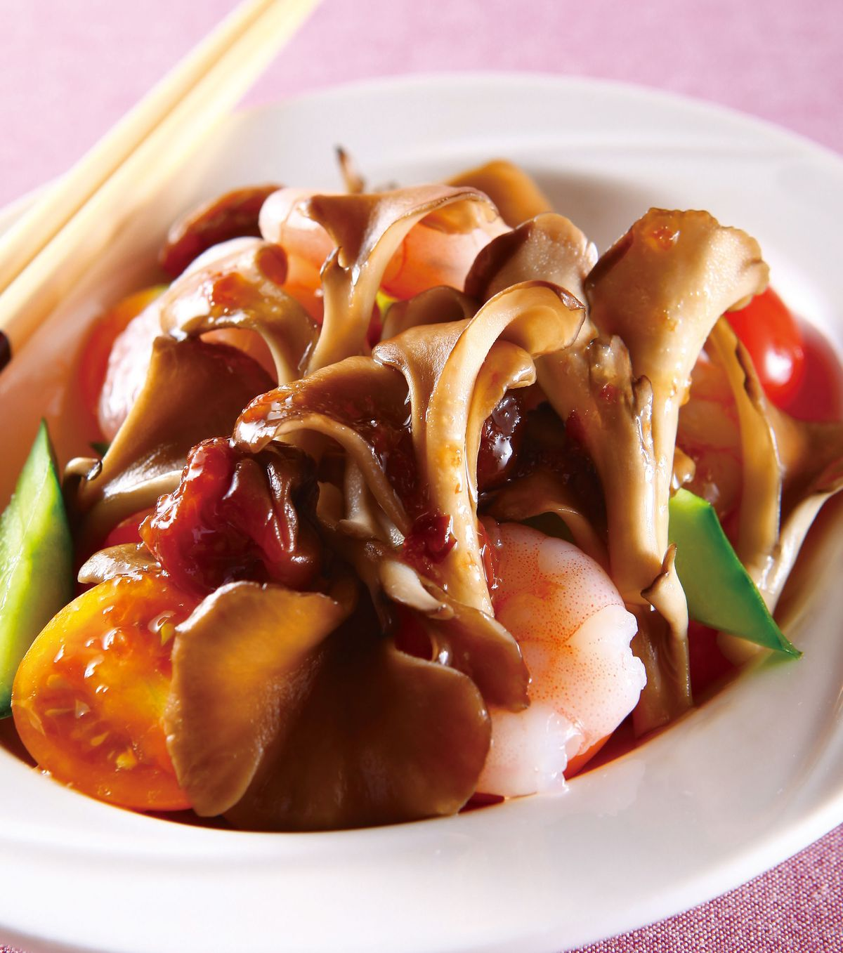 食譜:梅醬拌舞菇