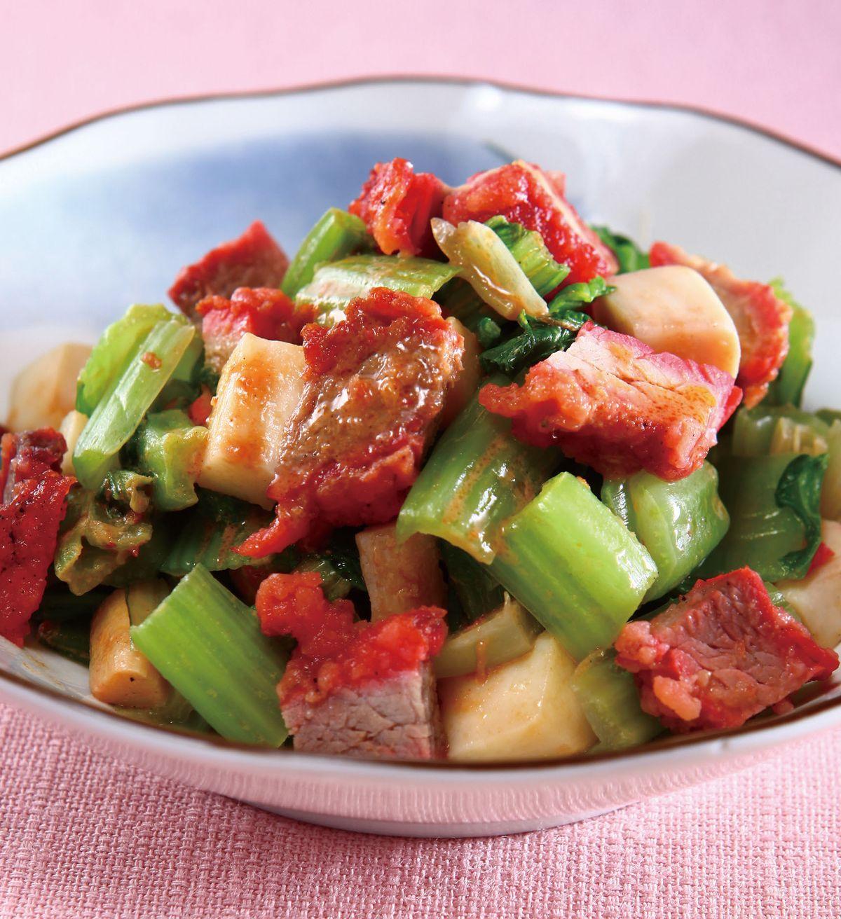 食譜:芝麻叉燒芥菜