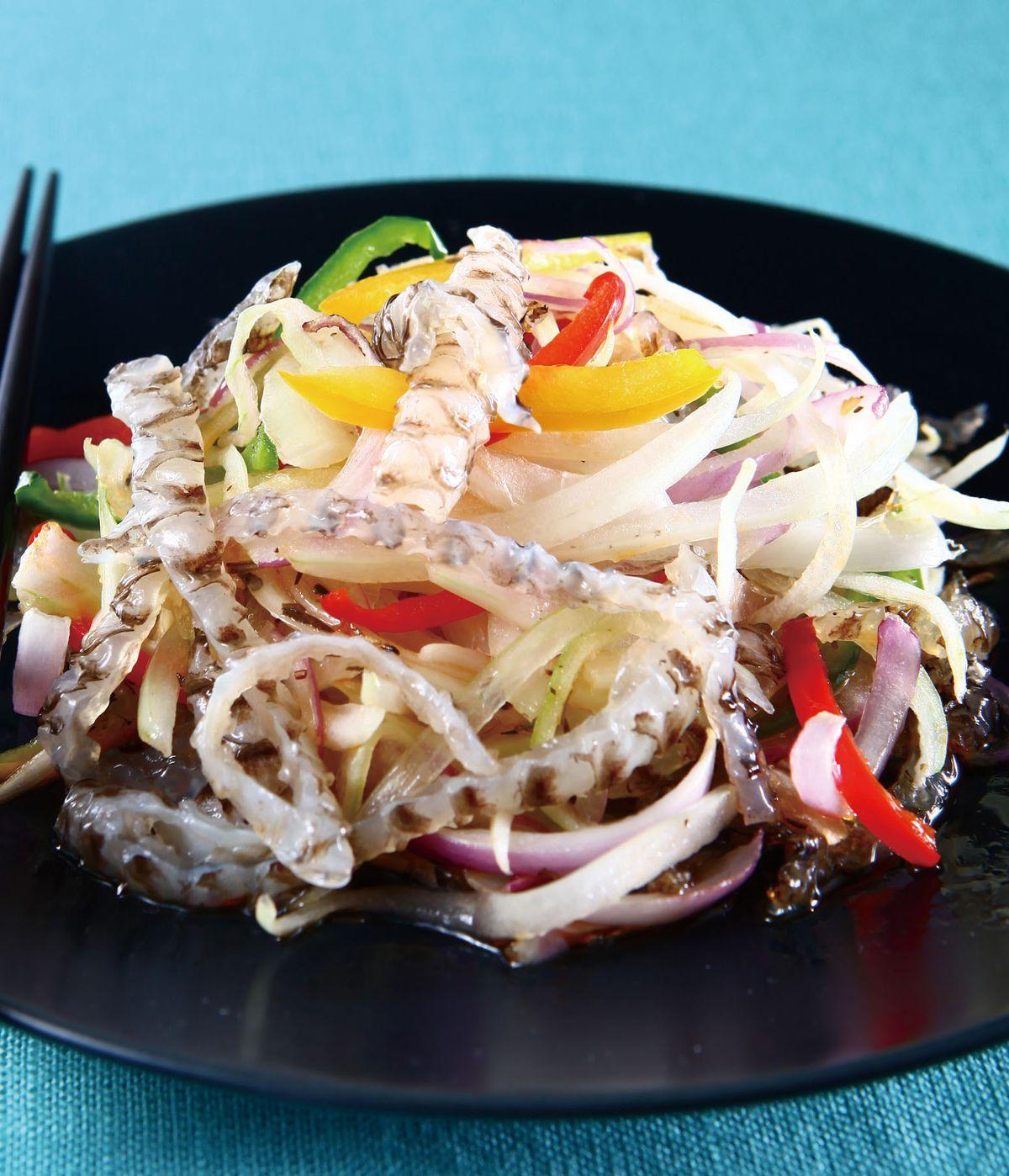 食譜:洋蔥水晶魚皮