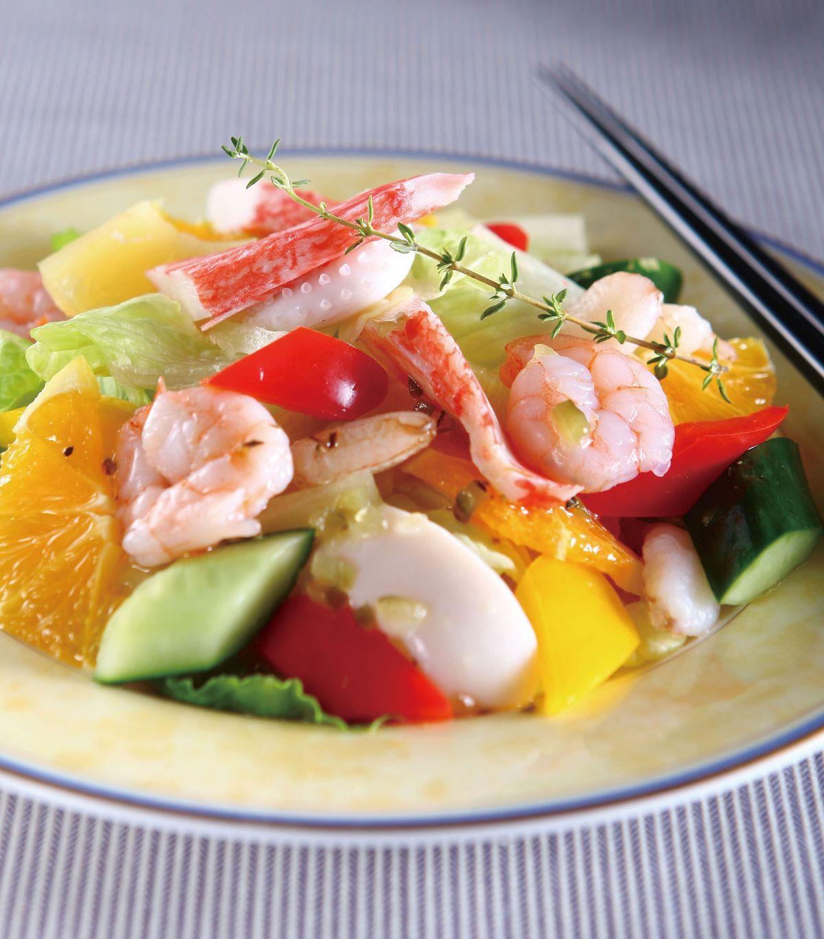 食譜:蔬果海鮮拌