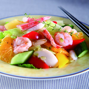 蔬果海鮮拌