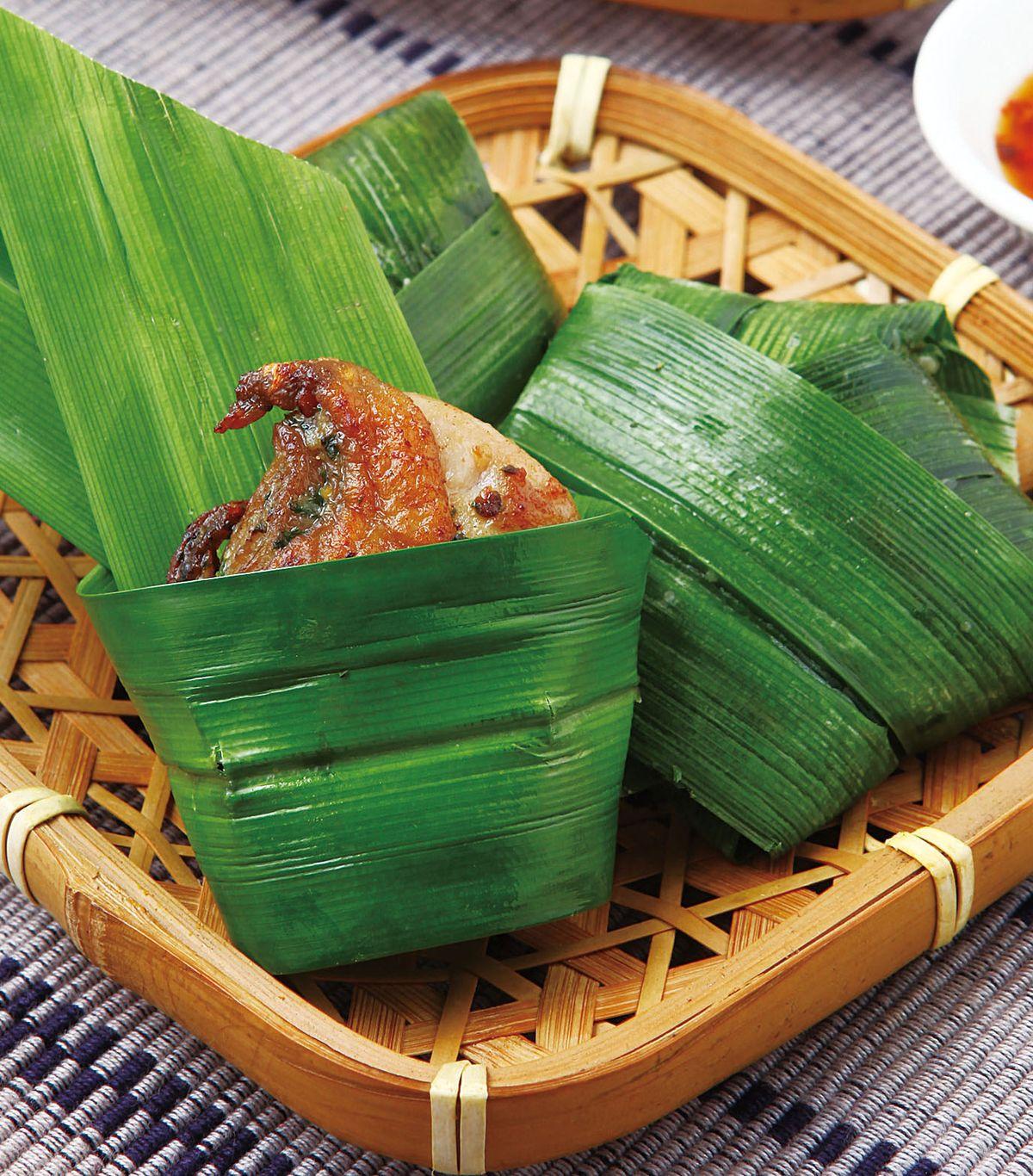 食譜:香蘭葉包雞