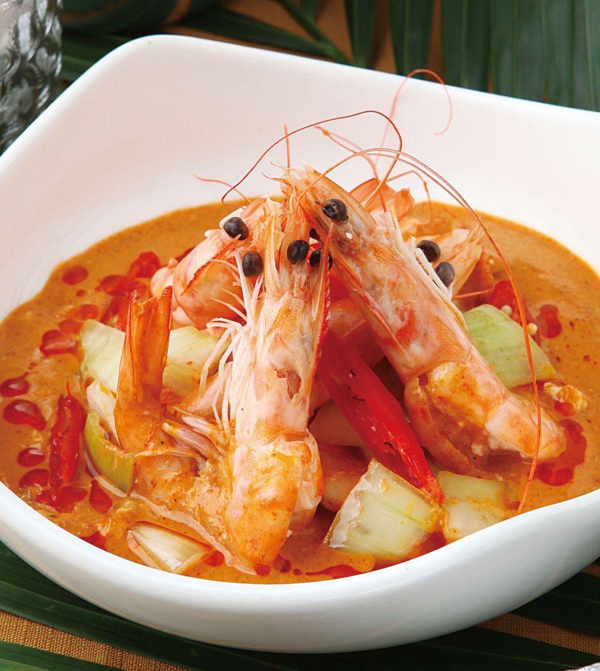 食譜:椰漿咖哩蝦