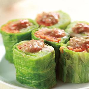 麻醬蔬菜捲