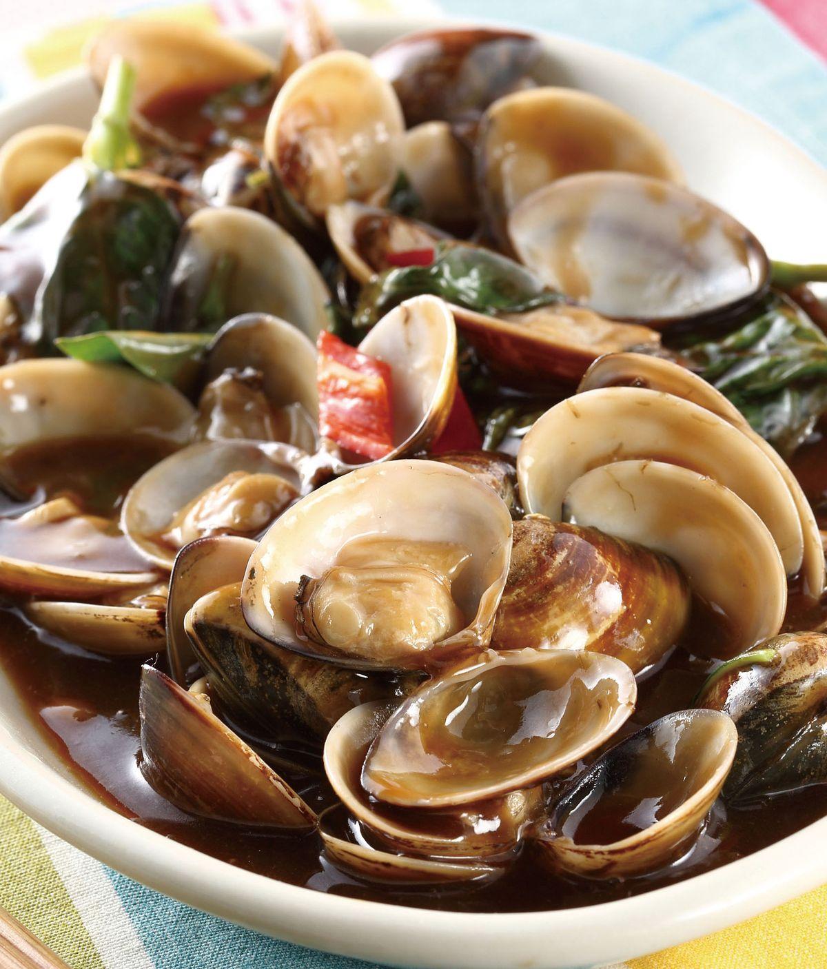 食譜:九層塔炒蛤蜊