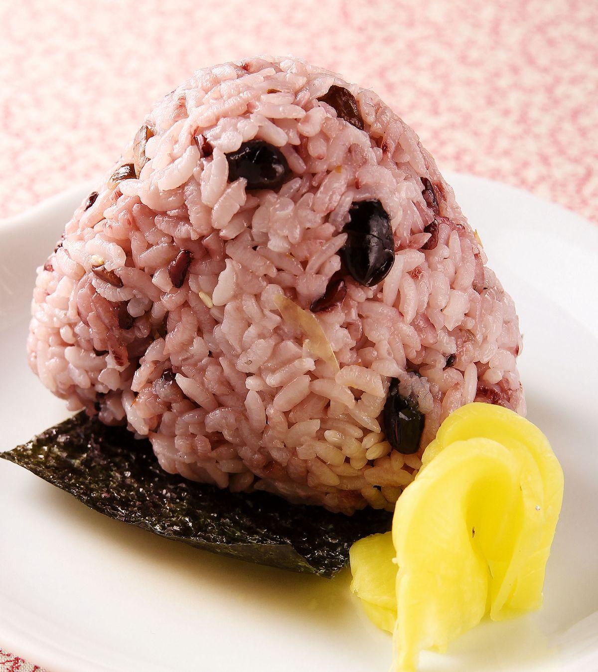 食譜:紫米菇香御飯糰
