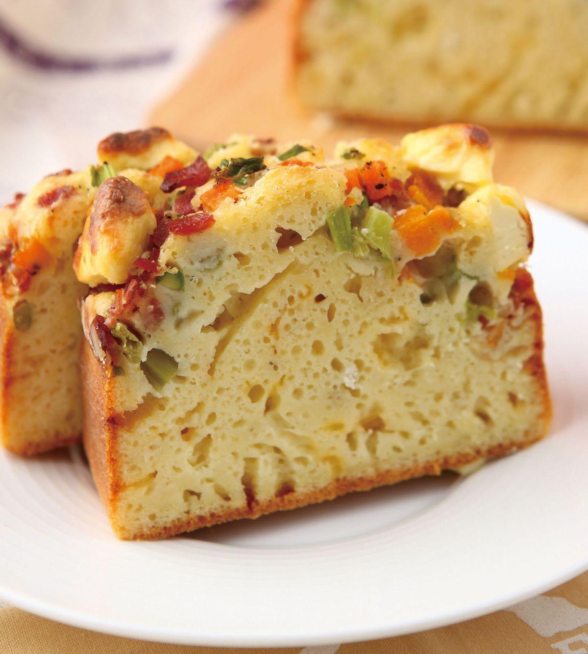 食譜:南瓜蘆筍培根鹹蛋糕