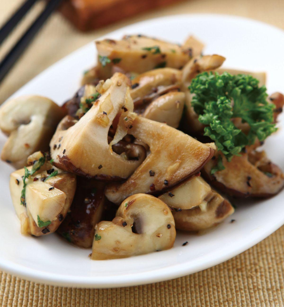 食譜:油醋鮮菇