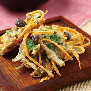 炸地瓜野菇餅