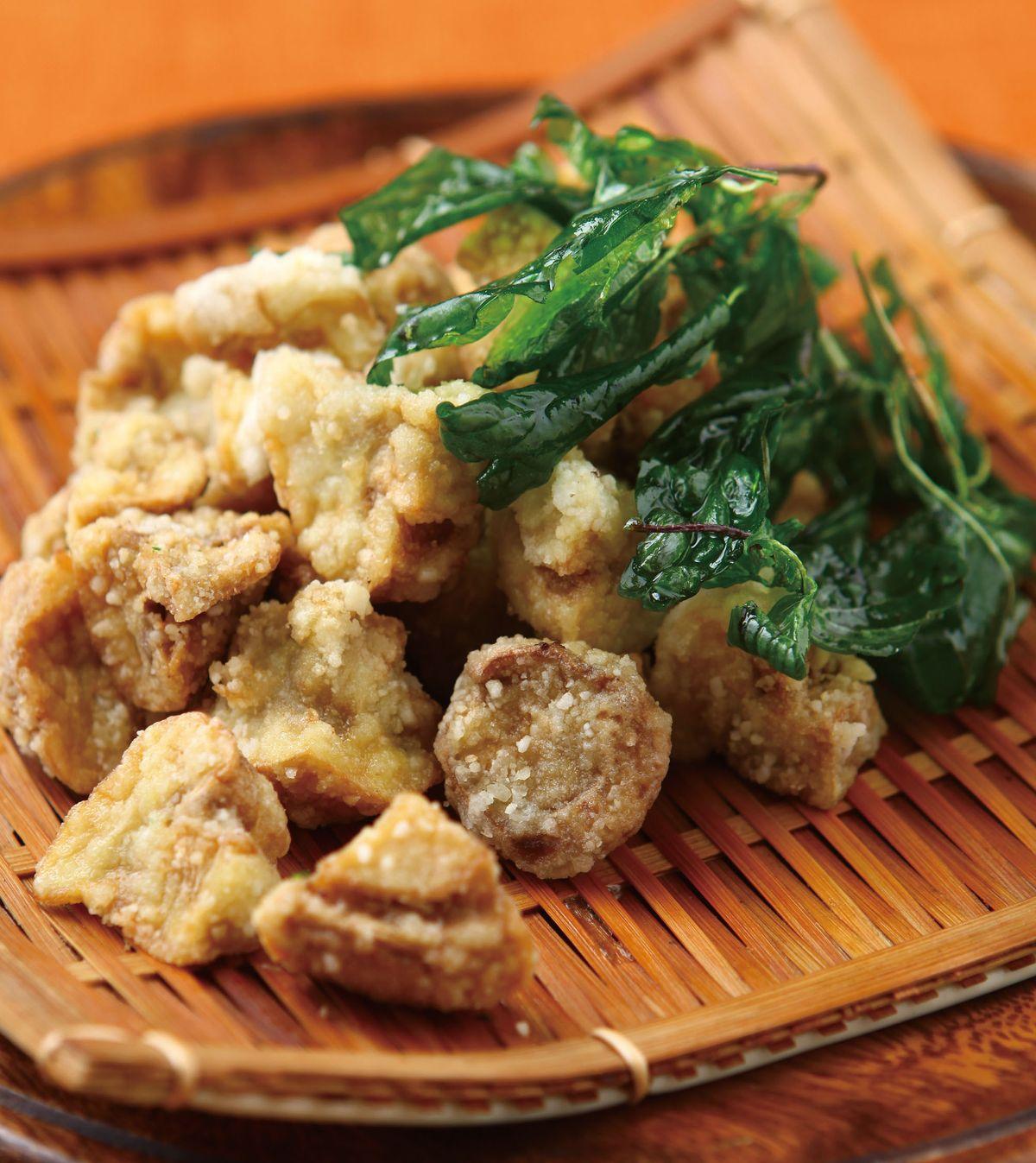 食譜:塔香鹽酥洋菇丁