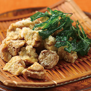 塔香鹽酥洋菇丁
