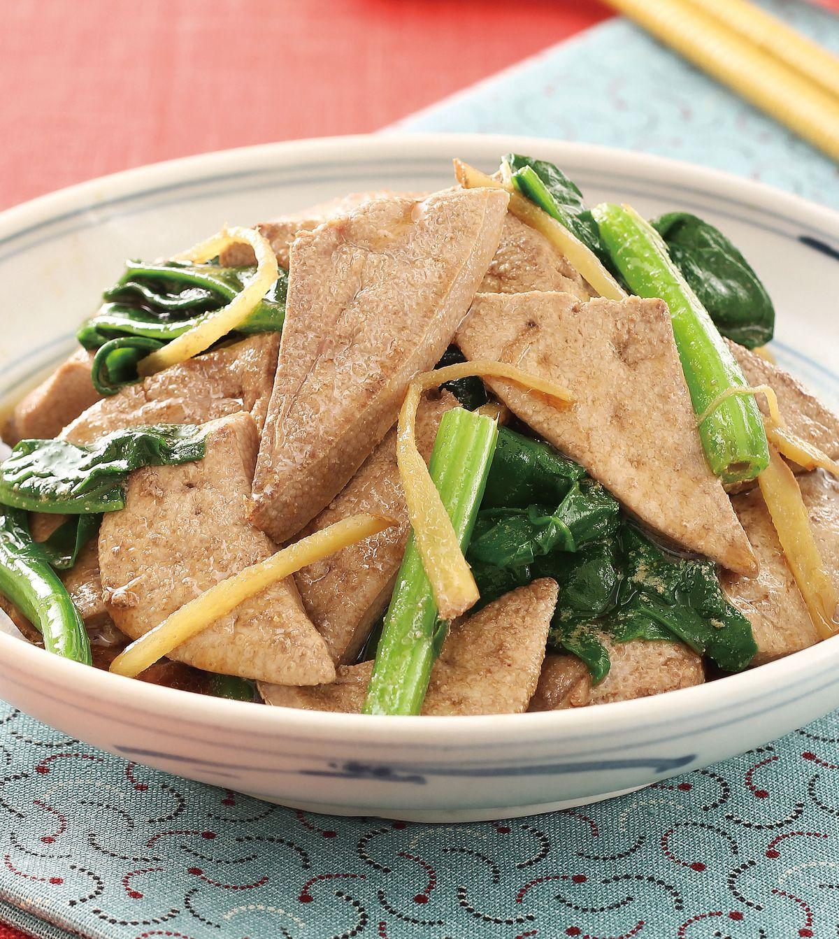 食譜:麻油炒豬肝(2)