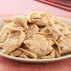 麻油炒肉片