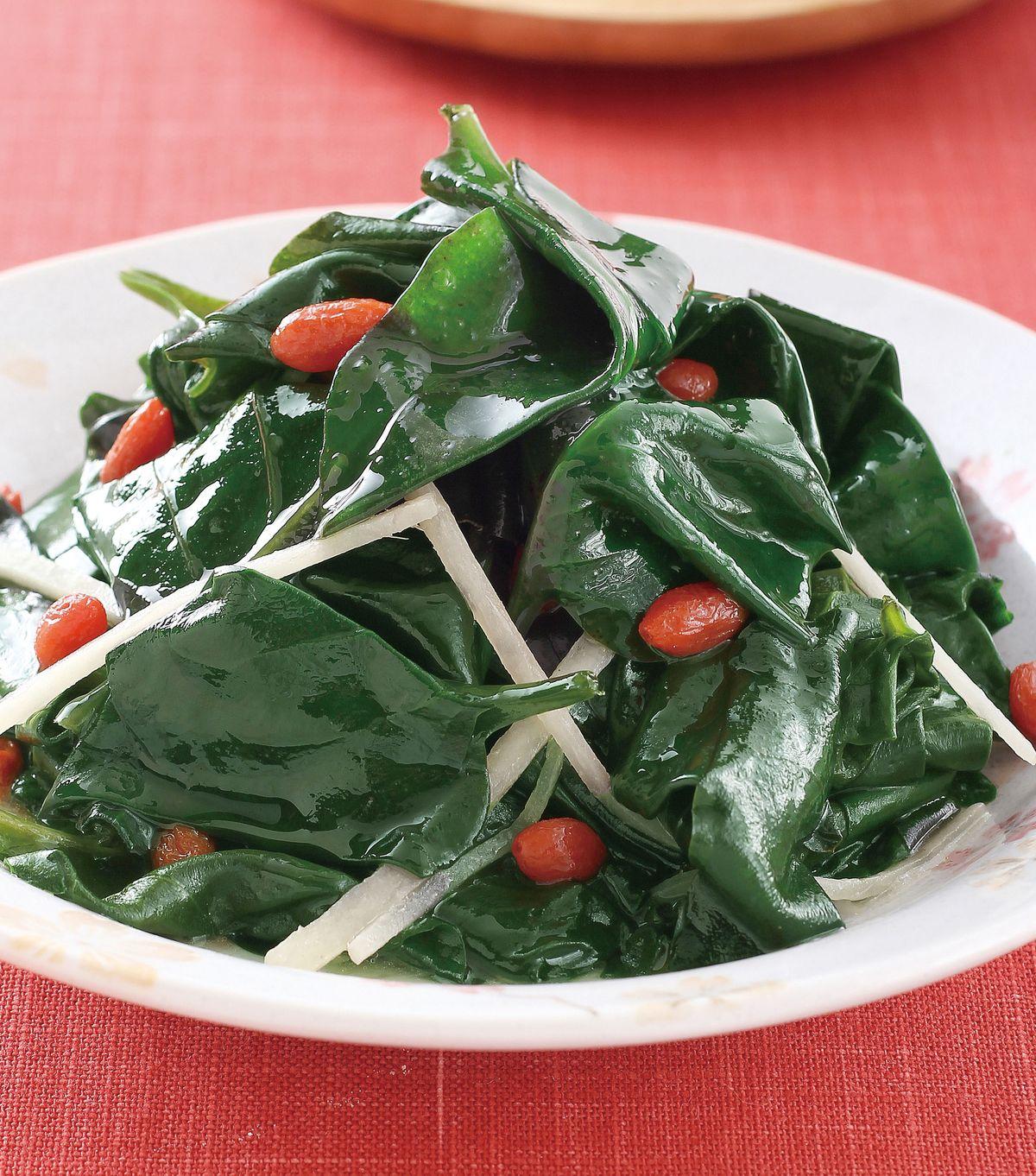 食譜:麻油炒川七(1)