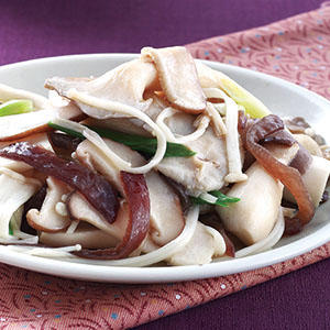 麻油炒鮮菇