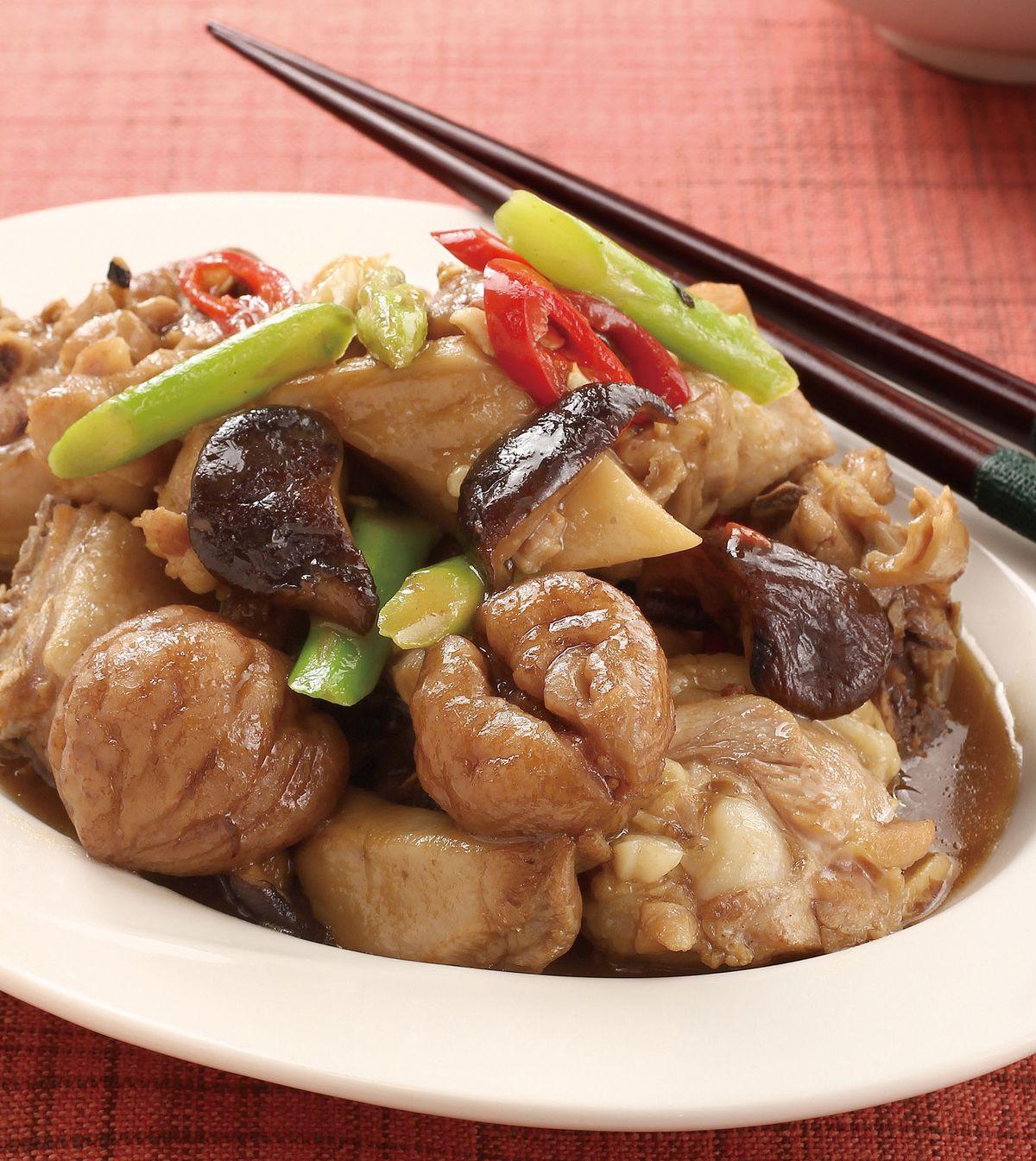 食譜:栗子燒香菇(1)