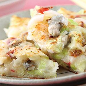 高麗菜海鮮煎餅