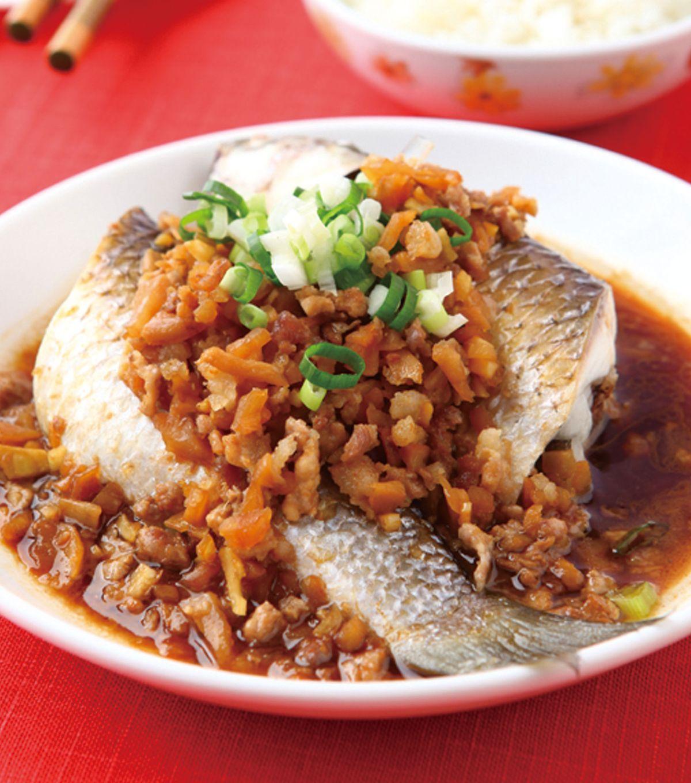 食譜:菜脯蒸魚