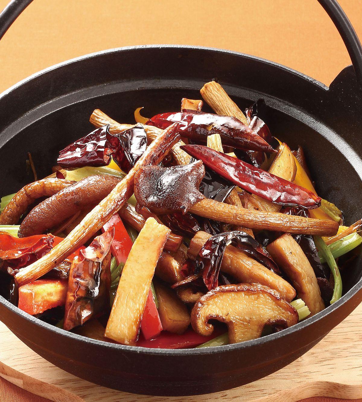 食譜:乾鍋蕈菇