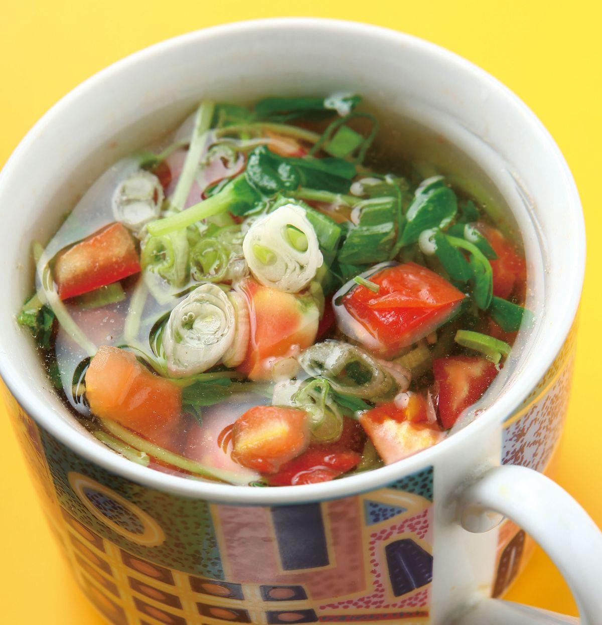 食譜:番茄豆苗湯