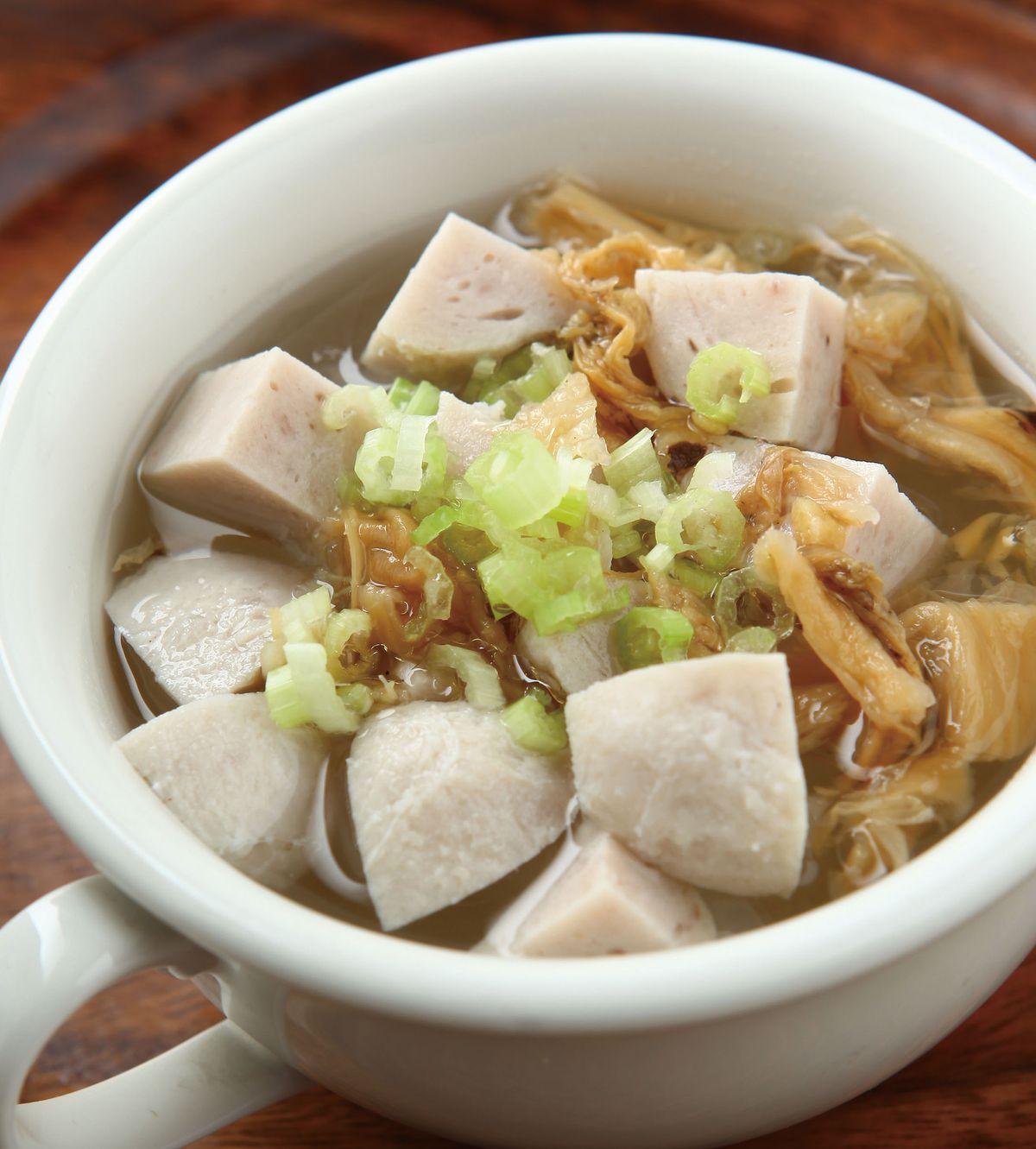 食譜:冬菜貢丸湯