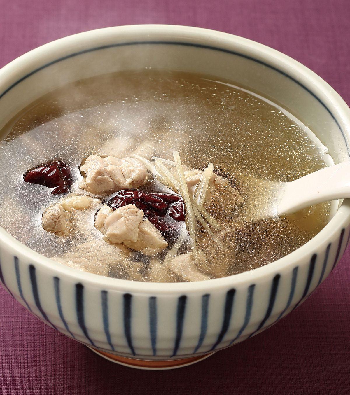 食譜:香菇紅棗雞湯
