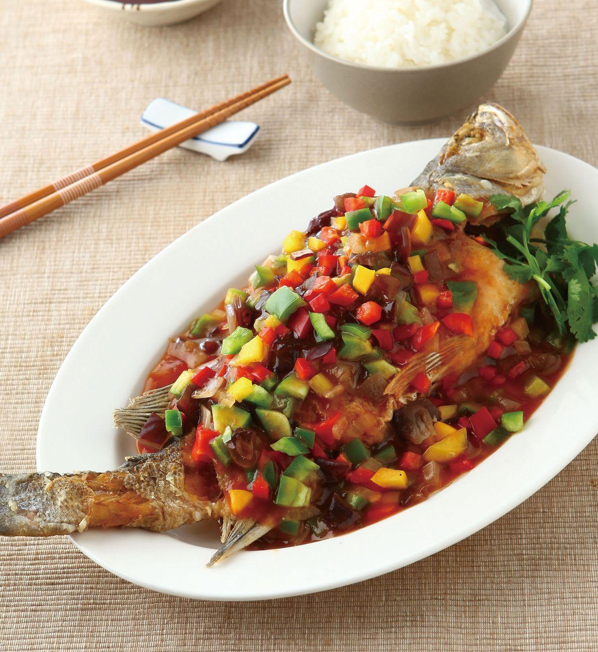 食譜:五彩糖醋魚(1)