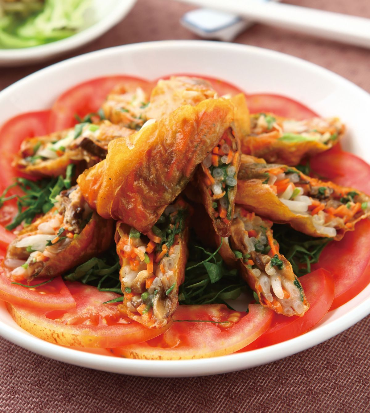 食譜:黃金燻蔬菜卷