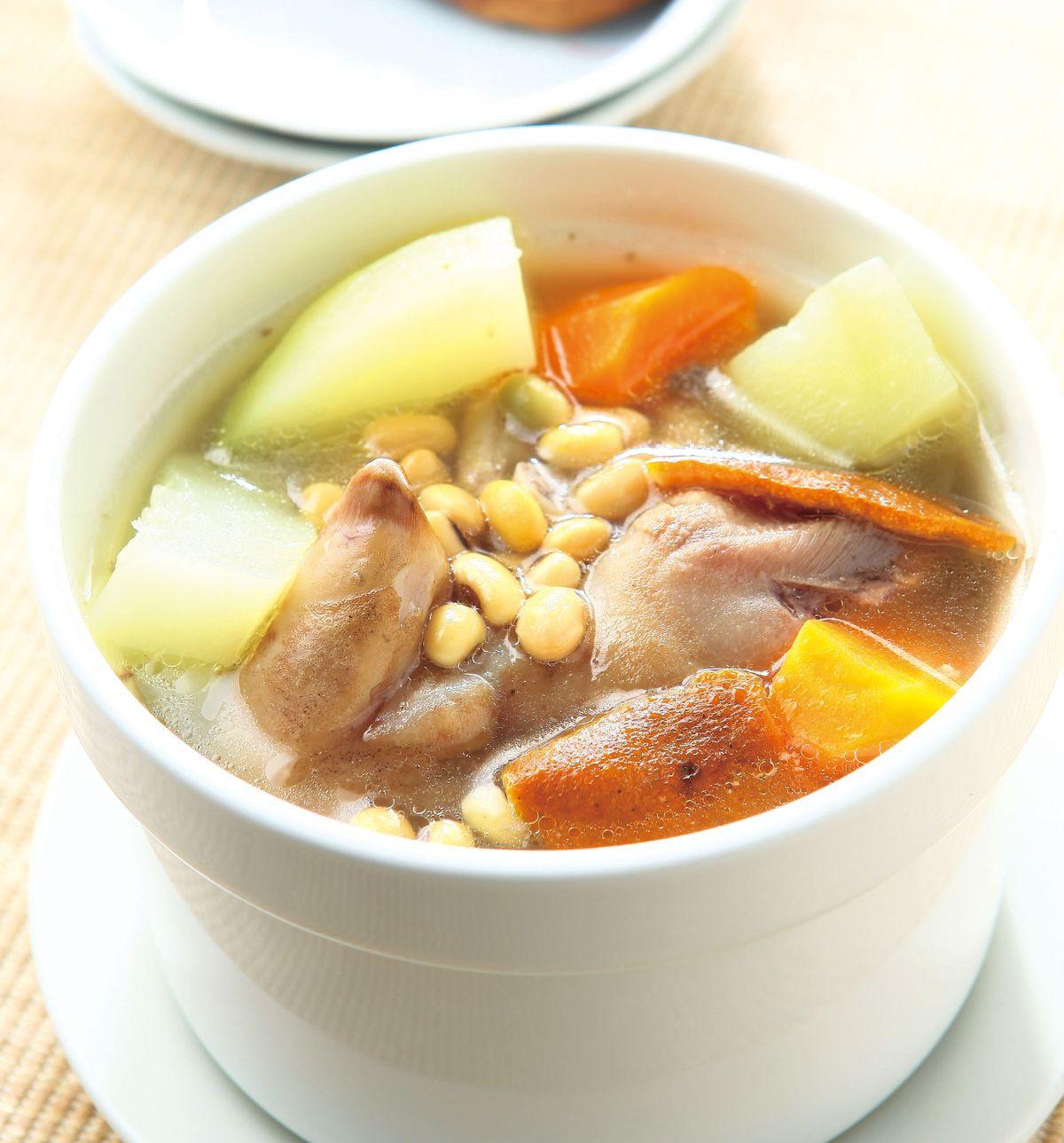食譜:木瓜黃豆煲豬蹄